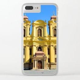 timisoara union square dome Clear iPhone Case