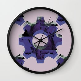 IMPROBABLE GREASE REEL blue Wall Clock