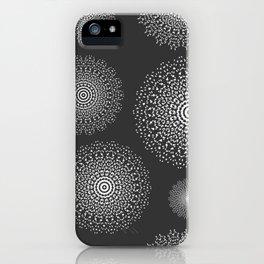 Lace mandala circles in Black & White iPhone Case