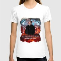 crowley T-shirts featuring Supernatural Crowley King of Hell S6 by Jamie Fontaine