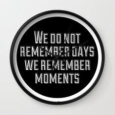 Remember Moments Wall Clock