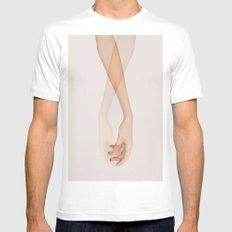 The Touch White SMALL Mens Fitted Tee