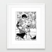 apollonia Framed Art Prints featuring asc 518 - L'immobilisation (The entrapment) by From Apollonia with Love