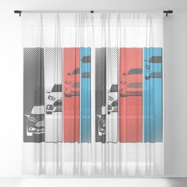 Fast Fords Sheer Curtain