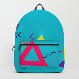 Geometric Blue Pattern PS Gaming Backpack