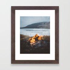 Cozy Campfire Framed Art Print