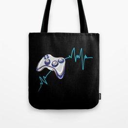 Gamer Heartbeat Tote Bag