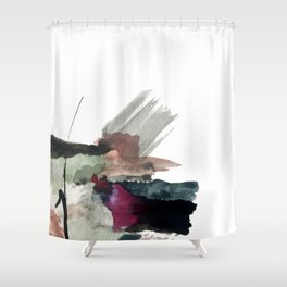 Begin [3]: a minimal abstract mixed media piece Shower Curtain