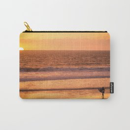 Surfer watching sunset in Southern California Carry-All Pouch