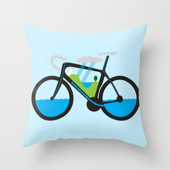 The Water Cycle Throw Pillow