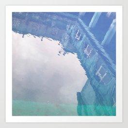 Curses: Blue Lagoon Art Print