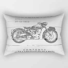 Vintage Triumph Thunderbird Motorcycle Rectangular Pillow