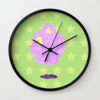 lumpy space princess Wall Clocks featuring Adventure Time - Lumpy Space Princess by LightningJinx