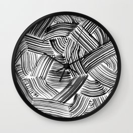 Tangled Brushstrokes Wall Clock