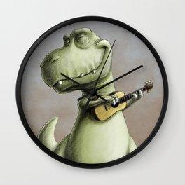 Rockin' Out With A Ukelele Wall Clock