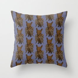 Little Brown Bat Throw Pillow