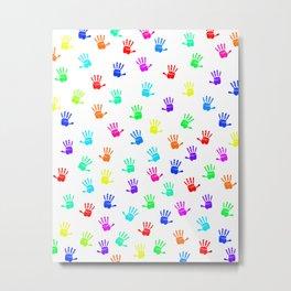 Colored Hands Metal Print