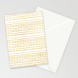 Torn (Horizontal) Gold on White Stationery Cards