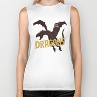 mother of dragons Biker Tanks featuring Dragons by WEAREYAWN