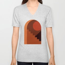 Abstraction_SUN_HOME_MInimalism_001 Unisex V-Neck