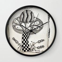 Zentangle 1 Wall Clock