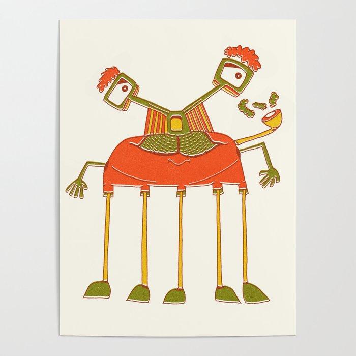 Robot Alien Monster No 139 Poster