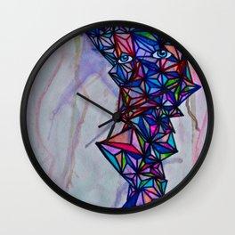Geometric Shape Creature #1 (bright) Wall Clock