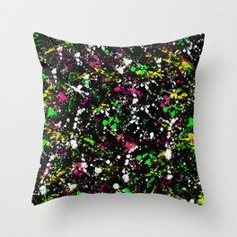 paint drop design - abstract spray paint drops 3 Throw Pillow