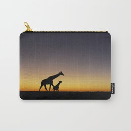 African Sunset Giraffe Silhouettes Carry-All Pouch