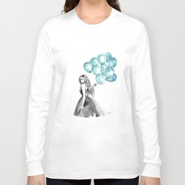 Balloons Turquoise  Long Sleeve T-shirt