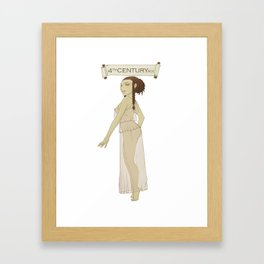 Historical Pin-Up - 4th Century BCE Framed Art Print