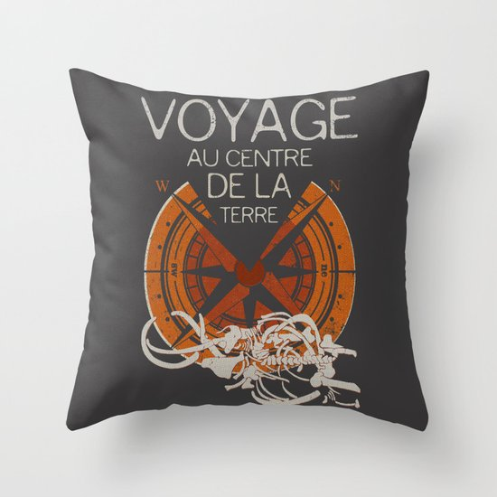 Books Collection: Jules Verne Throw Pillow