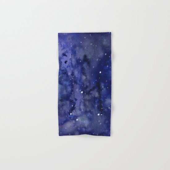 Night Sky Galaxy Stars | Watercolor Space Texture Hand & Bath Towel