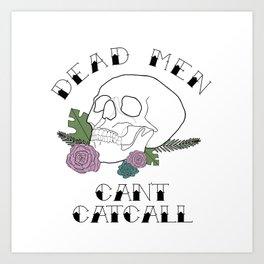 CATCALL ANNOUNCMENT Art Print