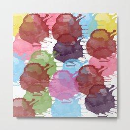 Splatter Happy Metal Print