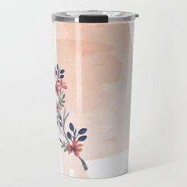 Alabama Watercolor Floral State Travel Mug