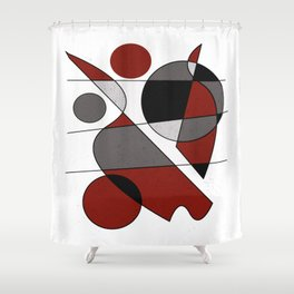 Abstract #124 Shower Curtain