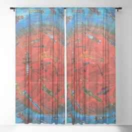 Dragonflies Sheer Curtain