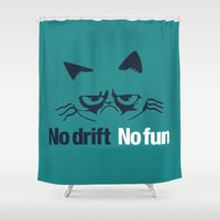 audi Shower Curtains featuring No drift No fun v2 HQvector by Vehicle
