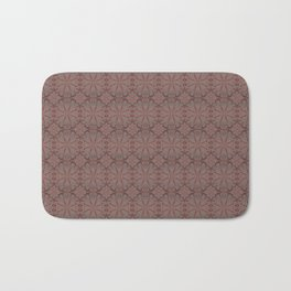 Peach, gray and chocolate lace Bath Mat