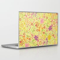 oriental Laptop & iPad Skins featuring Oriental Blooms by Poppy & Red