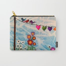 Birds on Wire Carry-All Pouch