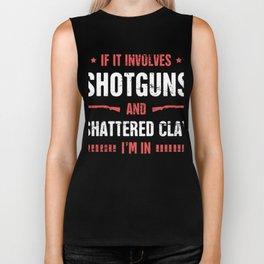 Shotguns And Shattered Clay - Skeet Shooting Biker Tank