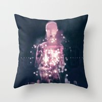 ufo Throw Pillows featuring Ufo by Marc González