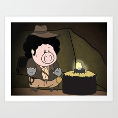 Indiana Pork Art Print