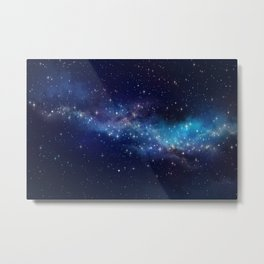 Floating Stars - #Space - #Universe - #OuterSpace - #Galactic Metal Print