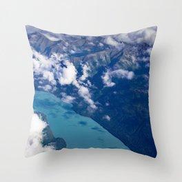 Aerial Alaska Throw Pillow