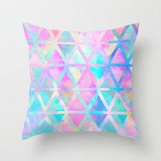 Pink pastel aztec pattern Throw Pillow