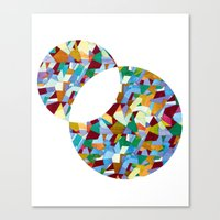 mozart Canvas Prints featuring Mozart abstraction by Laura Roode