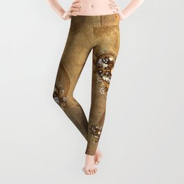 Steampunk Heart Love Leggings